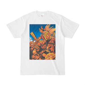アステカ最後の王カラーTシャツ