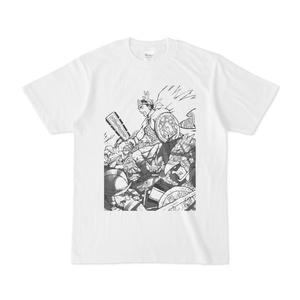 アステカ最後の王白黒Tシャツ