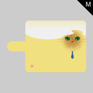 にゃんこフェイスシリーズ・Mサイズ手帳型ケース