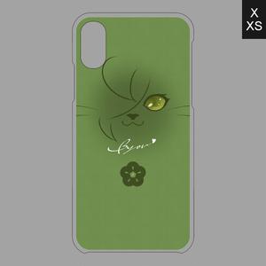 にゃんこフェイスシリーズ(2)iPhoneX/XSケース▽クリアベース