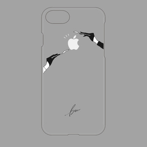 ゆび先シリーズiPhone7/8・iPhoneX/XSケース▽クリアベース(源氏兄弟刀)