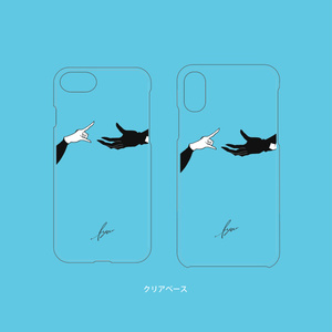 【受付中】ゆび先シリーズiPhone7/8・iPhoneX/XSケース▽クリアベース(村正派)