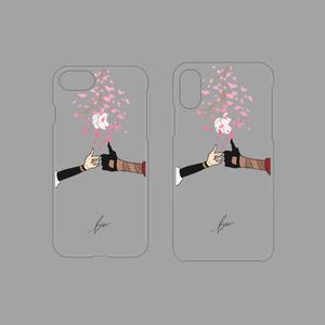 ゆび先シリーズiPhone7/8・iPhoneX/XSケース▽クリアベース(春の連番)