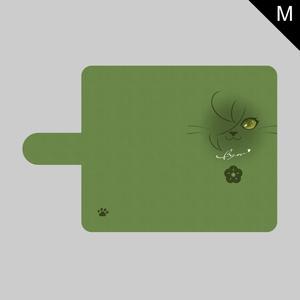 にゃんこフェイスシリーズ(ver.2)・Mサイズ手帳型ケース