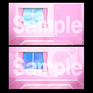お部屋素材【ピンク】