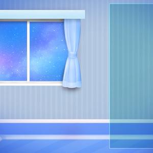 お部屋素材フリー【ブルー夜】