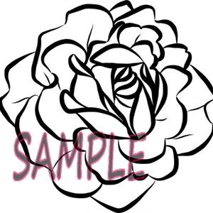 薔薇の花(線画)