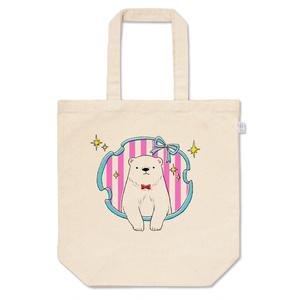 おめかしシロクマのトートバッグ(ピンク)