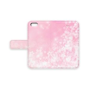 桜咲くスマホケース(iPhone用)