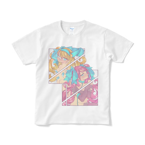 ガールTシャツ【ワイン&オレンジ】