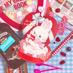Valentine Bunnyカード