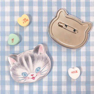 Crazy Cat Badge(unicorn cat /cheerful)