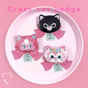 crazy cat badge(種類をお選びください)
