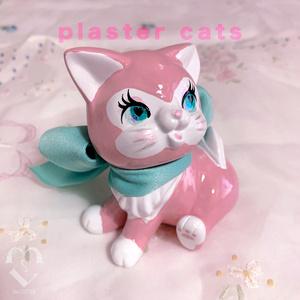プラスターキャッツ(石膏猫)ラバーキャット/ミントリボンちゃん