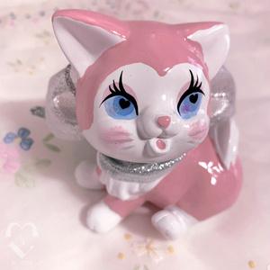 プラスターキャッツ(石膏猫)グリッターリボンちゃん