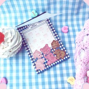 BEARS CAKE FACTORY メモ帳