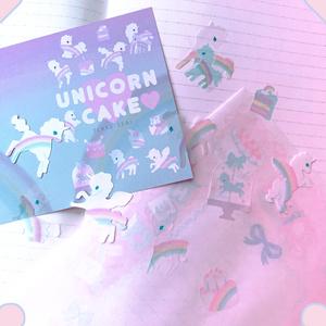 unicorn cakeマステ素材フレークシール