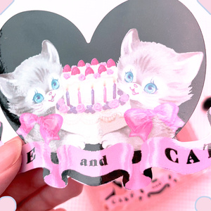 CAKE and CATSステッカー