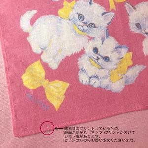 hot pink! cat コットンハンカチーフ