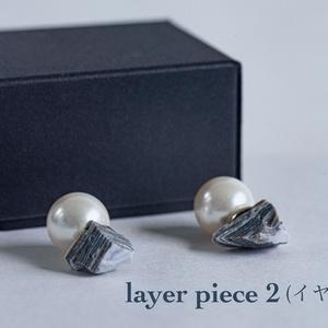 【3Ⅾモデル+アクセサリー本体】layer piece(ピアス/イヤリング)【RVELTA】