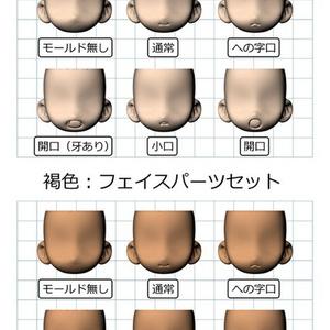 【ワケ有り】【機人企画】フェイスパーツセット1