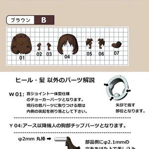 【機人企画】アース 髪の毛パーツセット