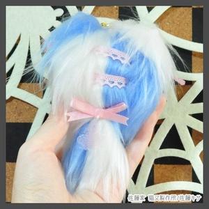 ロココ猫又/ライトブルー×ホワイト