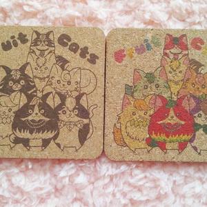 フルーツ猫 コルクコースター2枚セット