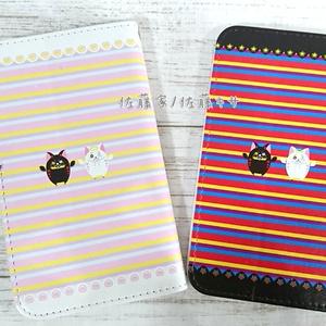 天使猫と悪魔猫 スマートフォンケース