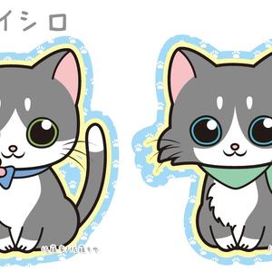 にゃんこステッカー/パーティーカラー