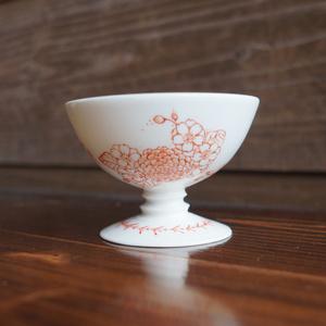 白磁 菊桜宴盃