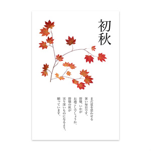 紅葉・ハガキ印刷用切り抜き素材・透過PNG-183