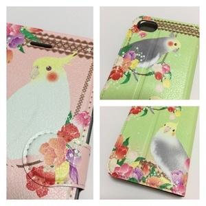 【受注生産-iPhone  6 / 6s / 7 / 8】オカメインコ 手帳型iPhoneケース