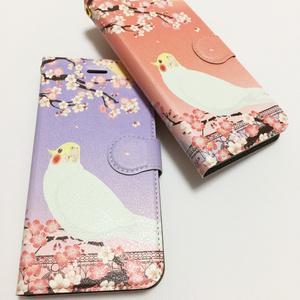 【受注生産-iPhone5/5s/SE-】オカメインコ 手帳型iPhoneケース