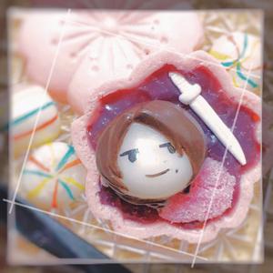 刀剣団子和最中バックチャーム 桜