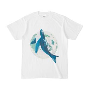 月とクジラのイラスト