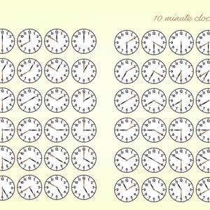 時計10分刻みのベクターイラスト素材