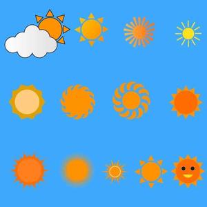 太陽のイラストセット