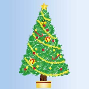 可愛いクリスマスツリーのpngイラスト(3000×4965)