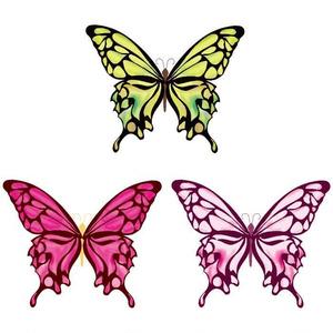 綺麗な蝶々3種ベクターイラスト素材