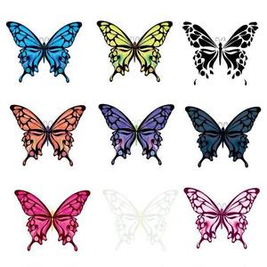 綺麗な蝶々のベクターイラスト9種類