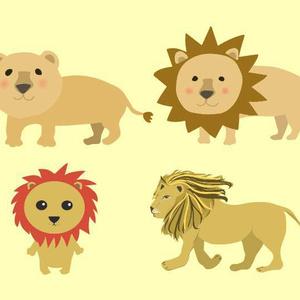 ライオンのベクターイラスト素材