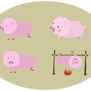 豚のベクターイラスト素材