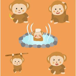 猿のベクターイラスト素材