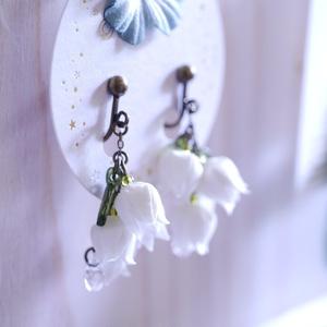 君影草の耳飾り(4輪)