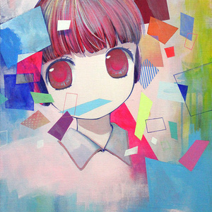 "原画 ""ひろいせかいせいしゅん"" Adolescence is a wide world, painting artwork"