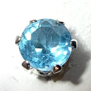 【1個売り】ブルーアパタイトのスタッドピアス 4mm