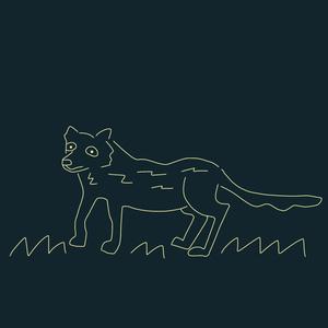 味のあるオオカミのTシャツ。(濃紺)