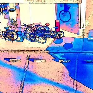 オシャレ自転車ポーチ。