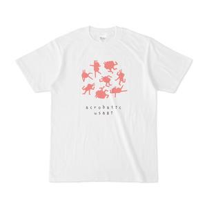 アクロバティックウサギのTシャツ。